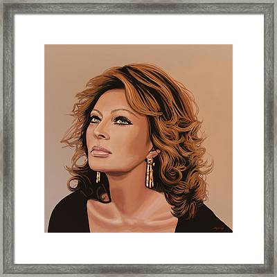 Sophia Loren 3 Framed Print by Paul Meijering