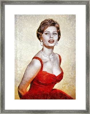 Sophia Loren Hollywood Actress Framed Print by John Springfield