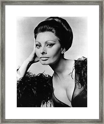 Sophia Loren, In Costume For Arabesque Framed Print