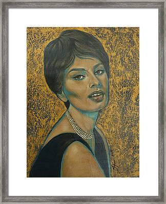 Sophia Loren Framed Print by Jovana Kolic