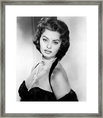 Sophia Loren, Portrait Circa 1957 Framed Print by Everett