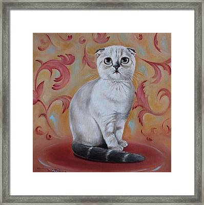 Sophie At 4 Month Old Framed Print by Rebecca Tecla