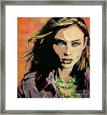 Sophie Ellis-bextor Framed Print by Sergey Lukashin