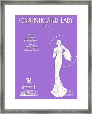 Sophisticated Lady Sheet Music Art Framed Print
