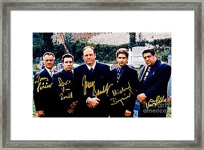 Sopranos Autographed Cast Photograph Framed Print by Pd