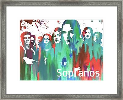 Sopranos Paint Poster Framed Print by Dan Sproul