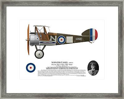 Sopwith Camel - B6313 March 1918 - Side Profile View Framed Print by Ed Jackson