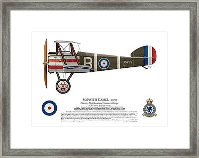 Sopwith Camel - B6299 - Side Profile View Framed Print by Ed Jackson