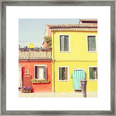 Sorbet Street Framed Print