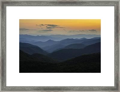 Sorbet Sunset Framed Print by Johan Hakansson