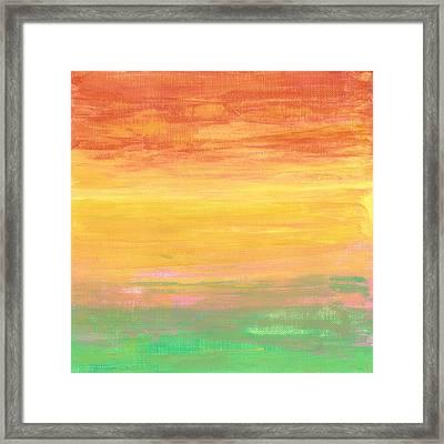 Sorbet Sunset Framed Print