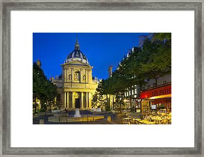 Sorbonne Twilight - Paris Framed Print by Brian Jannsen