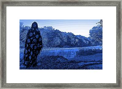 Sorcerer Stands Over A Creek Framed Print