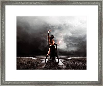 Sorceress Framed Print by Peter Chilelli