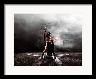 Light Sorceress Framed Prints