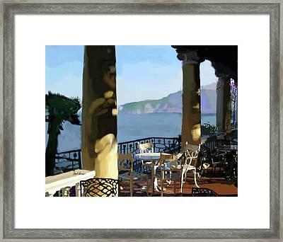 Sorento Cafe Framed Print by Brad Burns