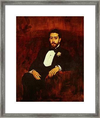 Sorolla Joaquin Retrato Del Abogado Don Silverio De La Torre Y Eguia Framed Print