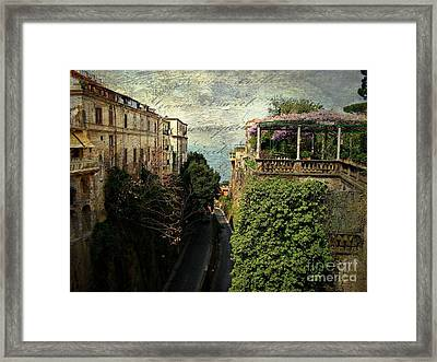 Sorrento Classic Framed Print by Anne McDonald