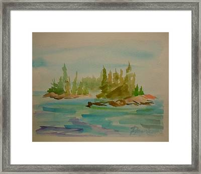 Framed Print featuring the painting Sorrento Islands by Francine Frank