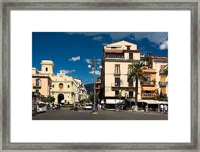 Sorrento Italy Piazza Framed Print