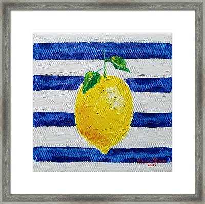 Framed Print featuring the painting Sorrento Lemon by Judith Rhue