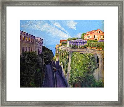 Sorrento Mio Framed Print