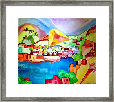 Framed Print featuring the painting Sorrento by Patricia Arroyo