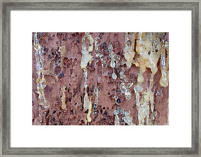 Sorrow - Amber Resin Drops Framed Print