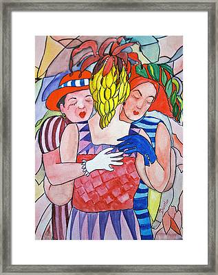 Sorrowful Sisters Framed Print by AnnE Dentler