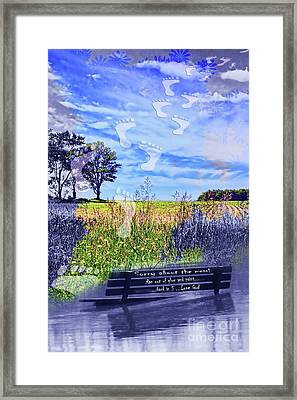 Sorry About The Mess Framed Print by Cathy  Beharriell
