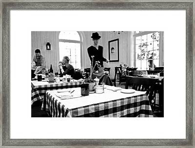 Sorry About The No Hat Policy Framed Print by Madeline Ellis
