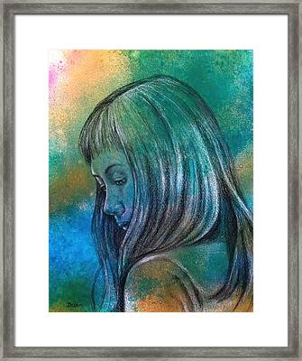Framed Print featuring the painting Sorry by Susan DeLain