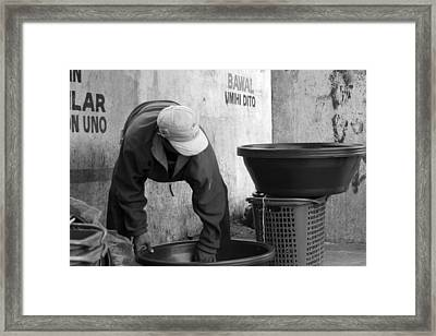 Sorting Out My Stock Framed Print by Jez C Self