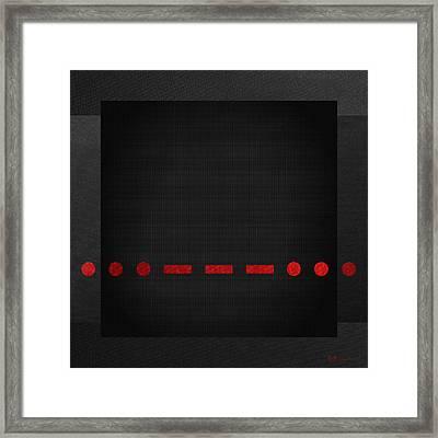 Sos International Morse Code Prosign - Red On Black Framed Print by Serge Averbukh