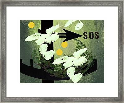 Sos Two Framed Print by Lyn Perry