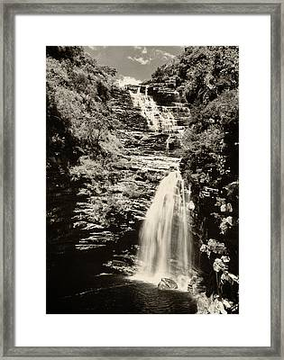 Framed Print featuring the photograph Sossego Waterfall by Amarildo Correa