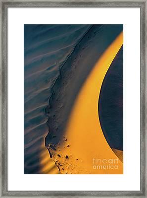 Sossusvlei Curve Framed Print by Inge Johnsson