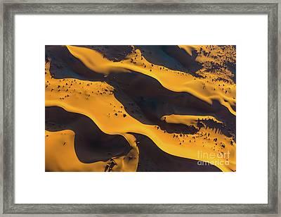 Sossusvlei Patterns Framed Print by Inge Johnsson