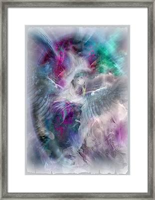 Souffle De L'esprit Dans Le Ciel. Framed Print by Freddy Kirsheh