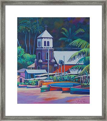 Soufriere Church Tower Framed Print