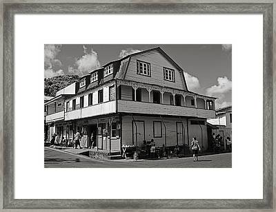 Soufriere House- St Lucia Framed Print
