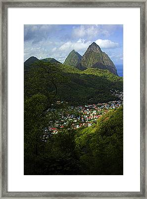 Framed Print featuring the photograph Soufriere Village- St Lucia by Chester Williams