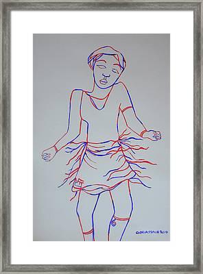 Soukous Or Lingala Dance - Congo Framed Print