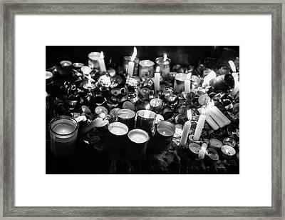 Soul Candles II Framed Print by Yoel Koskas