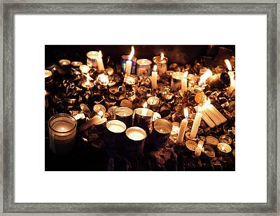 Soul Candles Framed Print by Yoel Koskas