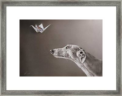 Soul Hunter Framed Print by Elena Kolotusha