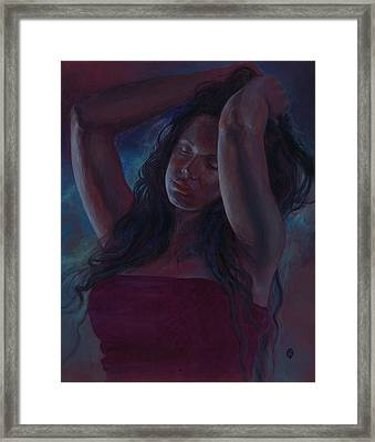 Framed Print featuring the painting Soul Nocturne by Ragen Mendenhall