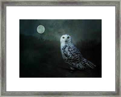Framed Print featuring the digital art Soul Of The Moon by Nicole Wilde