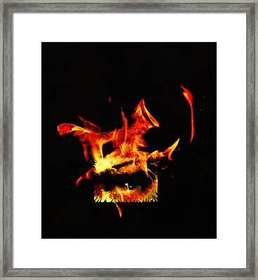 Soul On Fire Framed Print by Frances Lewis