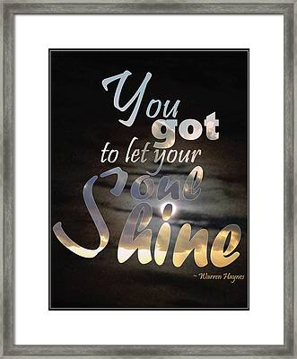 Soul Shine Framed Print